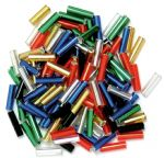 CF01\05 Bugle Beads: 6mm: 5 Packs of 15g - Full Colour Range